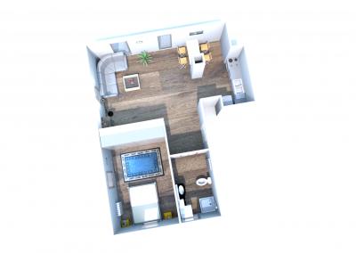 1 mieszkanie nr 1 - 2 pokoje