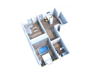 1 mieszkanie nr 1 - 3 pokoje