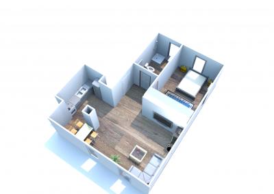 2 mieszkanie nr 1 - 2 pokoje