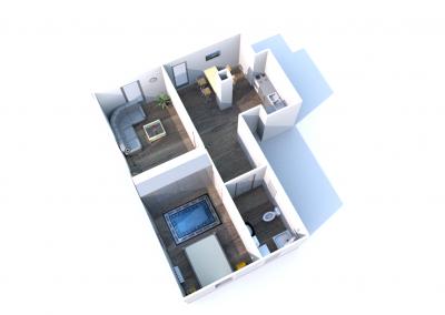 2 mieszkanie nr 1 - 3 pokoje