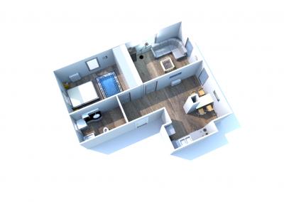 3 mieszkanie nr 1 - 3 pokoje