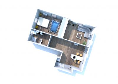 4 mieszkanie nr 1 - 3 pokoje